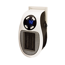 Brentwood H-C350W 350-Watt Plug-In Wall Outlet Personal Space Heater, White