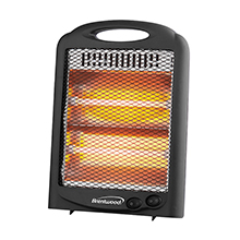 Brentwood H-Q600BK 600-Watt Portable Space Heater, Black