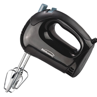 (HM-44) 5 Speed Hand Mixer in Black
