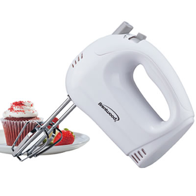 HM-45 5-Speed Hand Mixer in White