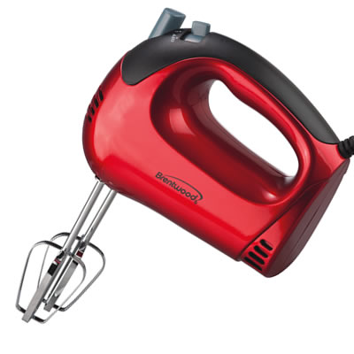 HM-46 5-Speed Hand Mixer in Red