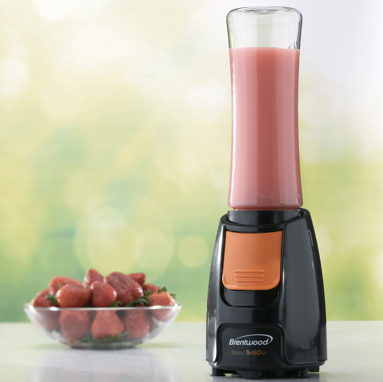JB-197 Blend-To-Go Personal Blender - Black w/Orange