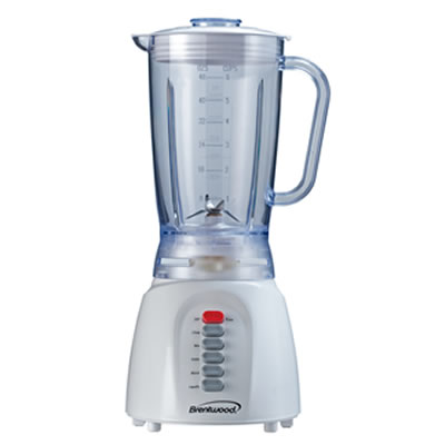 (JB-206) 6 Speed Blender with Plastic Jar in White