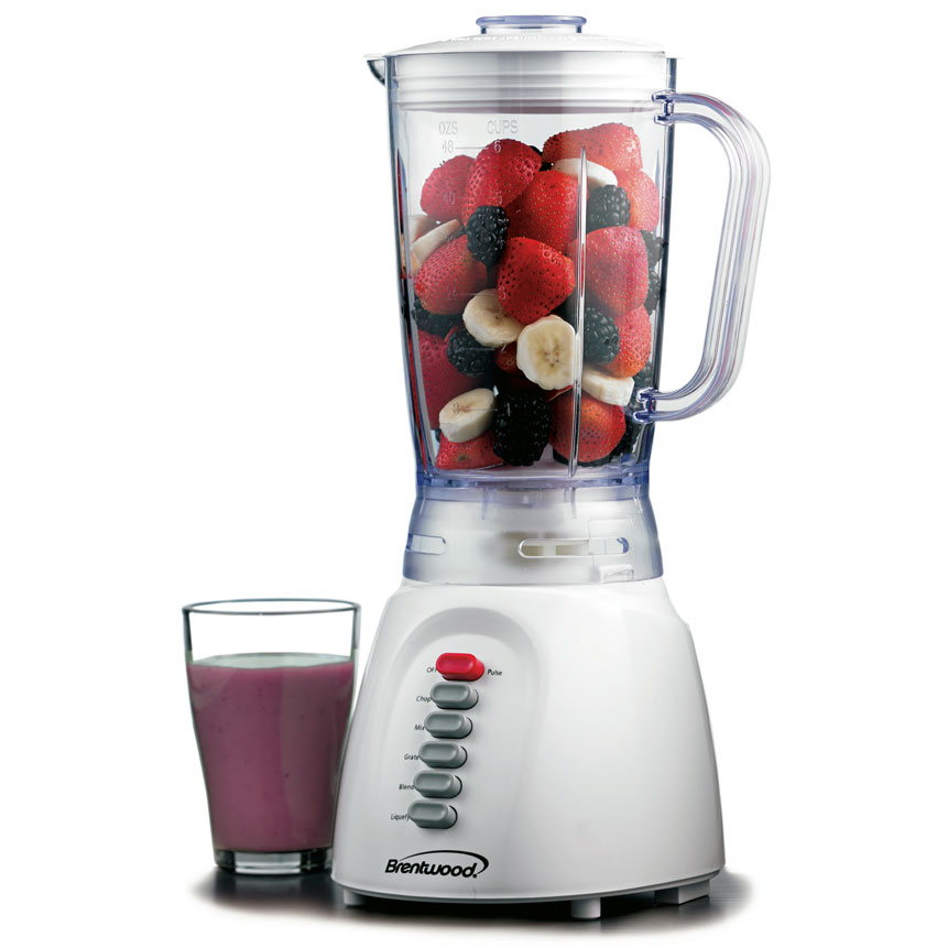 Brentwood JB-206 6-Speed Blender, White