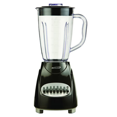 (JB-220B) 12 Speed Blender Plastic Jar -  Black