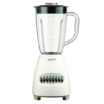 JB-220W 12-Speed Blender Plastic Jar – White