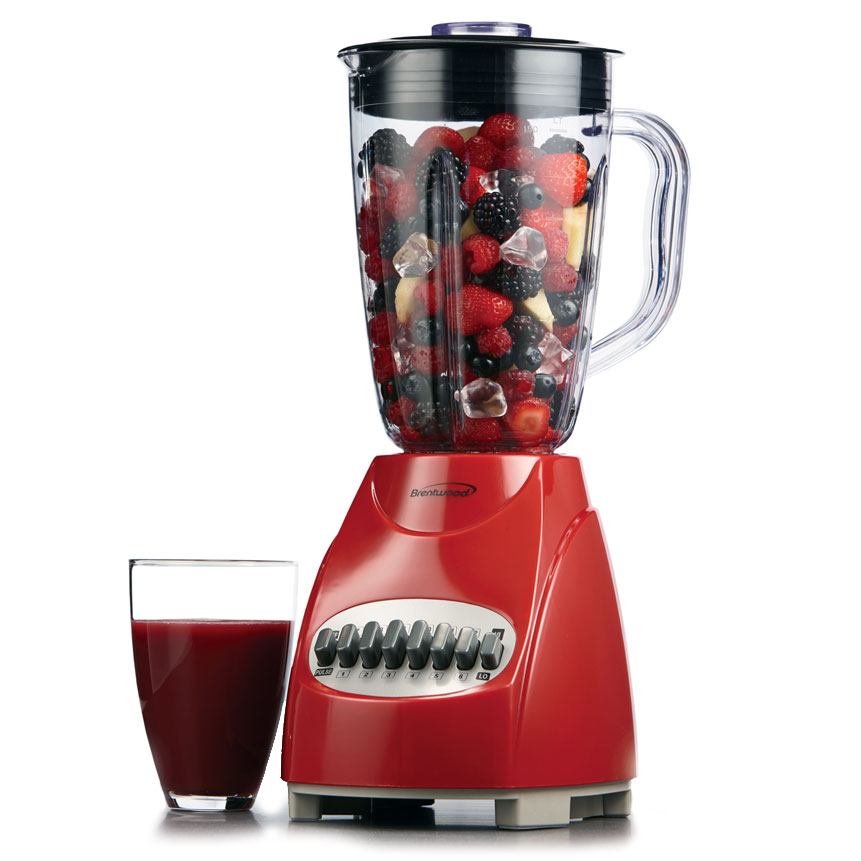 JB-920R 12- Speed Glass Blender - Red