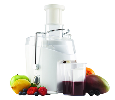 JC-452W 0.35 Liter 2-Speed Juice Extractor in White