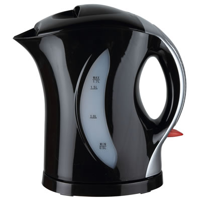 Brentwood KT-1618 BPA Free 1.7L Cordless Electric Kettle, Black/Silver