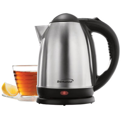 (KT-1790) 1.7 Liter Stainless Steel Electric Cordless Tea Kettle; Brushed Finish