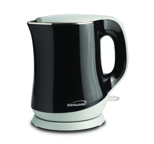 Brentwood KT-2013BK 1.3L Stainless Steel Cordless Electric Kettle, Black