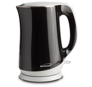 Brentwood KT-2017BK 1.7L Stainless Steel Cordless Electric Kettle, Black