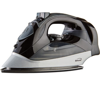 Brentwood MPI-59B Non-Stick Steam Iron with Retractable Cord, Black