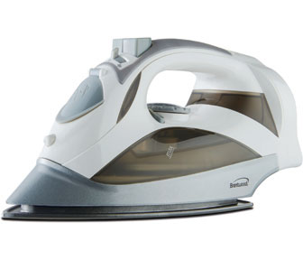 Brentwood MPI-59W Non-Stick Steam Iron with Retractable Cord, White