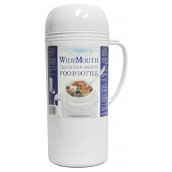 Brentwood RAZ10 34oz Vacuum Insulated Food Jar, White