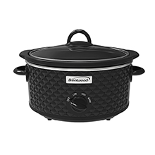 Coming Soon - Brentwood SC-136BK 3.5-Quart Diamond Pattern Slow Cooker, Black