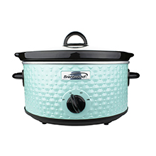 Brentwood SC-136BL 3.5-Quart Diamond Pattern Slow Cooker, Blue