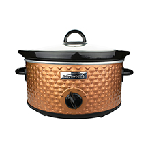 Brentwood SC-136C 3.5-Quart Diamond Pattern Slow Cooker, Copper