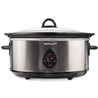 Brentwood SC-150S 6.5 Quart Slow Cooker, Stainless Steel
