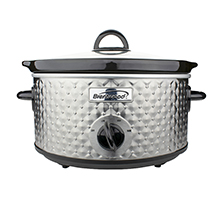 Brentwood SC-136S 3.5-Quart Diamond Pattern Slow Cooker, Stainless Steel
