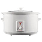 Brentwood SC-165W 8 Quart Slow Cooker, White