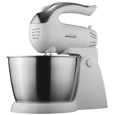 (SM-1152) 5 Speed Stand Mixer with Stainless Steel Bowl in White