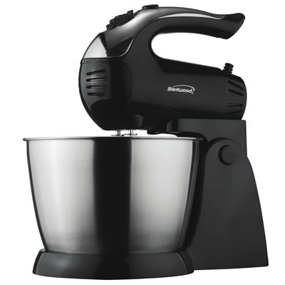(SM-1153) 5 Speed Stand Mixer with Stainless Steel Bowl in Black