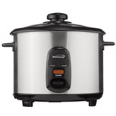 Brentwood TS-10 5-Cup Rice Cooker, Stainless Steel