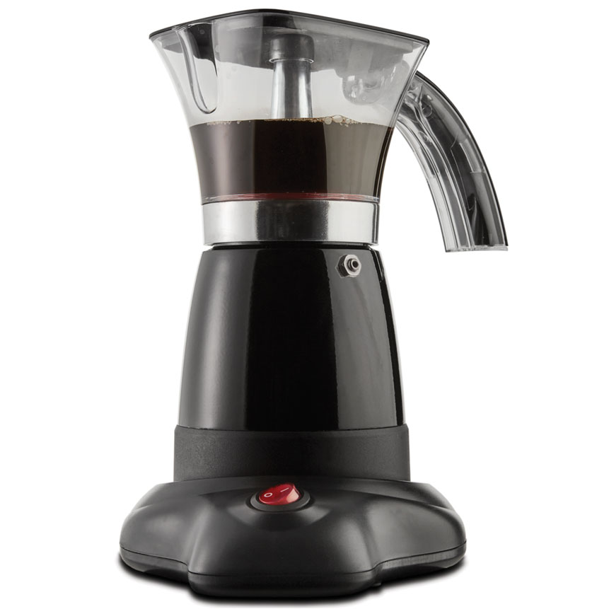 Brentwood TS-118BK Electric Moka Pot Espresso Machine, 6-Cups
