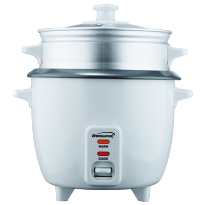 8 Cup Rice Cooker with Steamer in White (TS-180S)