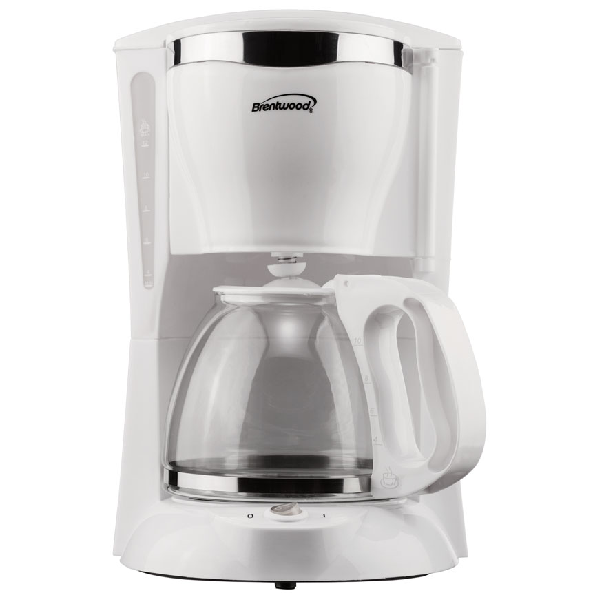 12 Cup Coffee Maker in White