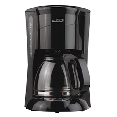 (TS-218B) 12 Cup Digital Coffee Maker in Black