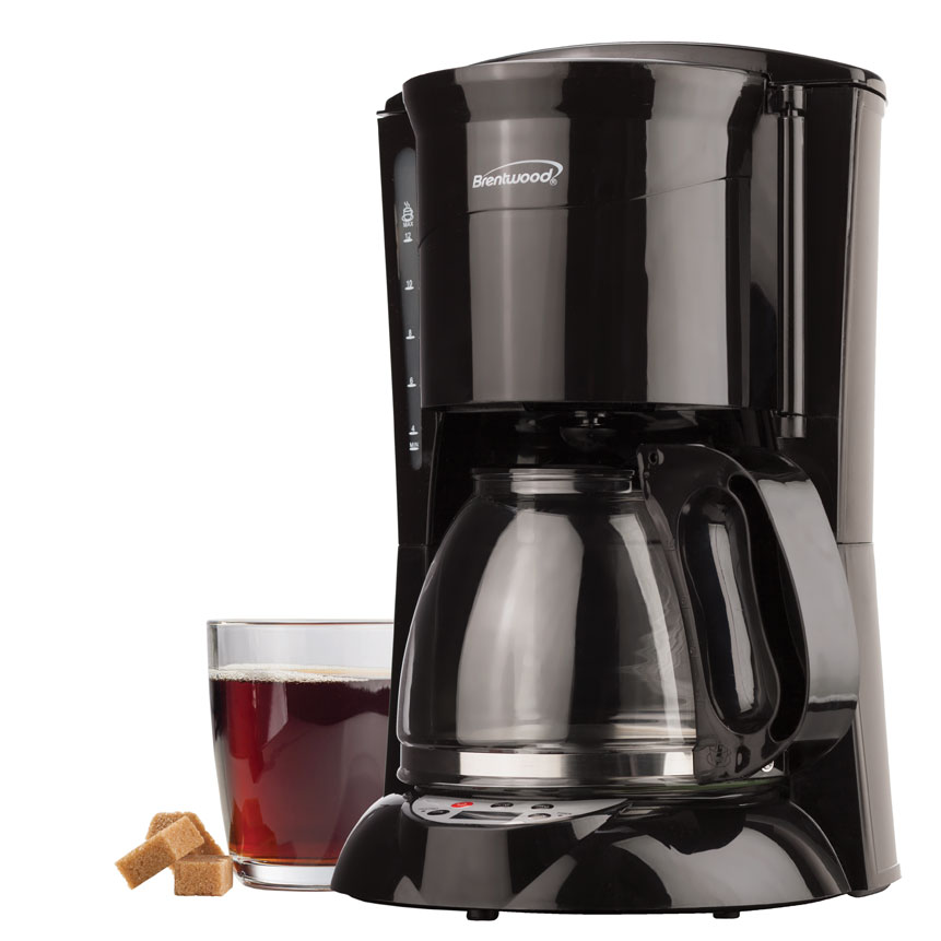12 Cup Digital Coffee Maker in Black