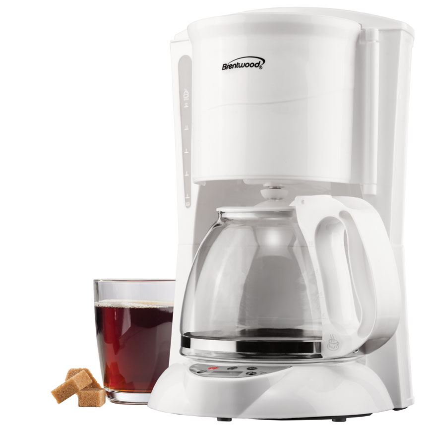 12 Cup Digital Coffee Maker in White