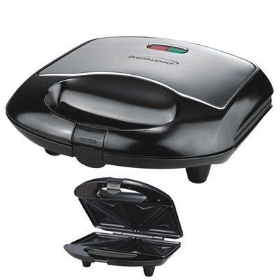(TS-240B) Sandwich Maker in Black & Stainless Steel