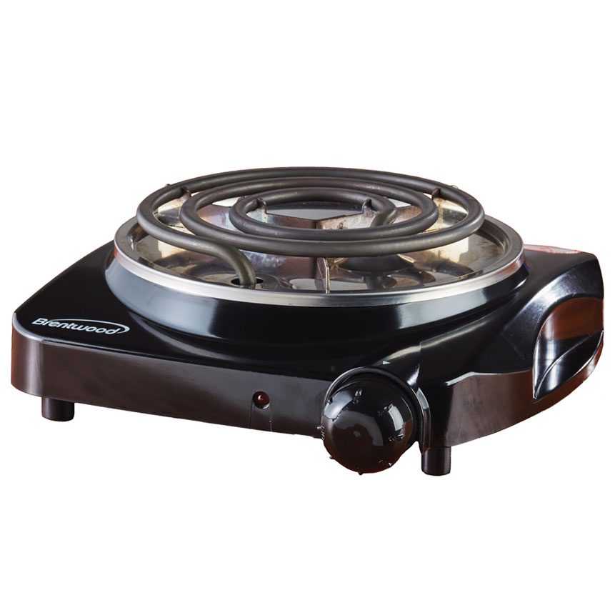 (TS-306) Electric 1200W Single Burner Black