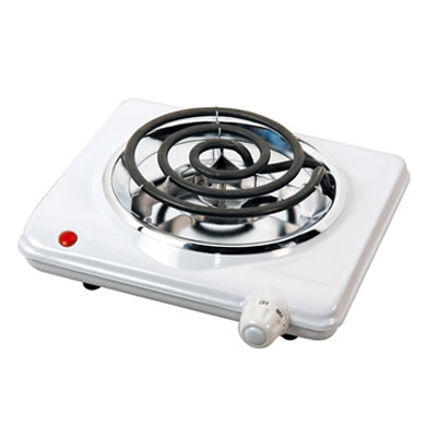 (TS-320) Electric Single Burner in White