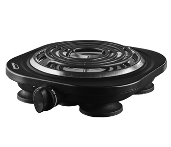 COMING SOON:(TS-321BK) Electric 1000W Single Burner Black