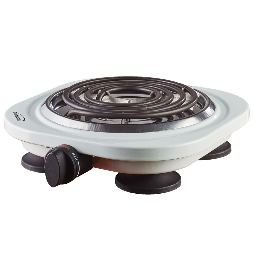 Brentwood TS-321W 1000w Single Electric Burner, White