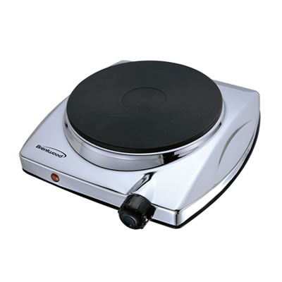 (TS-337) Electric Single Hotplate; Chrome Finish