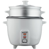 Brentwood TS-600S 5-Cup Rice Cooker and Food Steamer, White