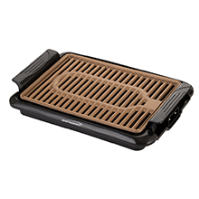 Brentwood TS-642 Indoor Electric Copper Grill, 1000 Watt, Black
