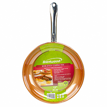 Brentwood BFP-330C 11.5-inch Non-Stick Induction Copper Frying Pan