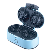 Brentwood TS-1402BL Double Waffle Bowl Maker, Blue