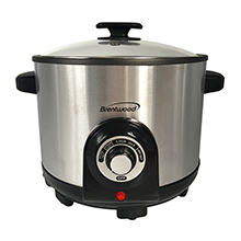 Brentwood DF-706 Electric Deep Fryer & Multi Cooker, 5.2 Quart, Stainless Steel
