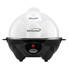 Brentwood TS-1045BK Electric 7 Egg Cooker with Auto Shut Off, Black