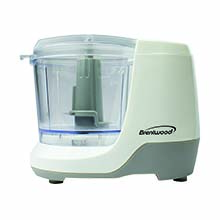 Brentwood MC-109W 1.5 Cup Mini Food Chopper, White