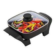 Brentwood SK-46 8-Inch Non-Stick Electric Skillet with Glass Lid, Black