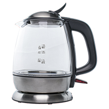 Brentwood KT-1910BK 1L Cordless Glass Electric Kettle, Black