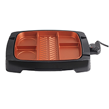 Brentwood TS-825 Multi-Portion Electric Indoor Grill, Non-Stick Copper Coating
